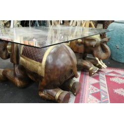 Table basse  éléphants