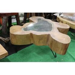 Table basse bois verre 3...