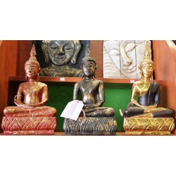 3 bouddha en chaise